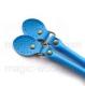 голубые с пряжкой 50см сплит кожа