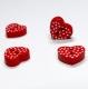 3D красное сердце горошек