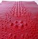 кожа искусственная с тиснением крокодил 35*50см красный